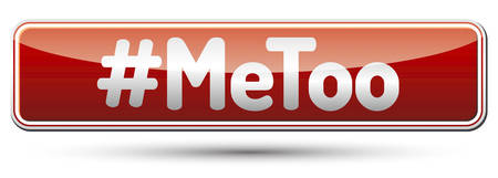 #MeToo - red banner with shadow Illustration