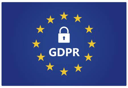 GDPR - European General Data Protection Regulation. Vector illustration.