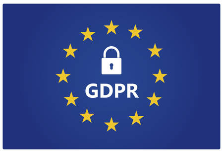 GDPR - European General Data Protection Regulation. Vector illustration.