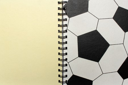 blank football note for write photo