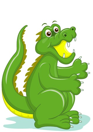 the smiling crocodile cartoon vecter photo
