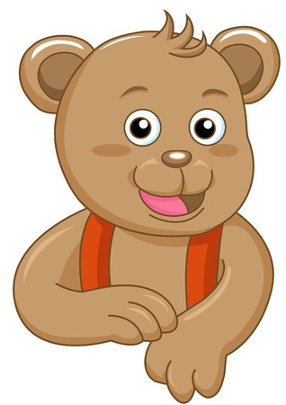 charming bear create by illustrator Stock Photo - 7921043