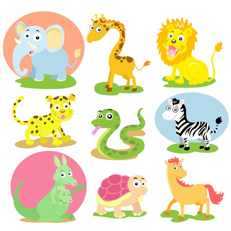 animal cartoon set
