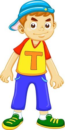 cool boy: the happy cute  boy  cartoon