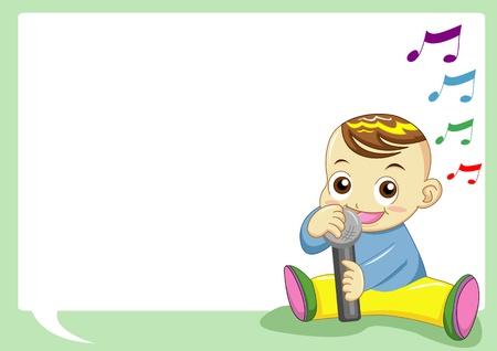 listening to music: baby singing