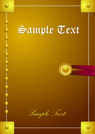 book jacket: classic book cover illustration background Stock Photo