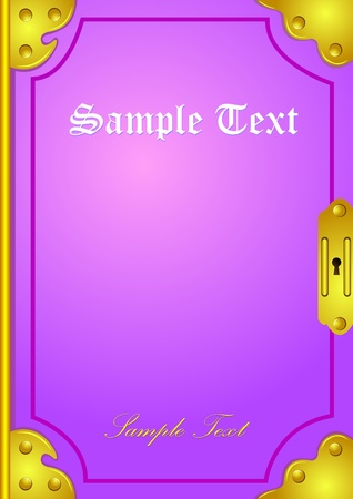 old diary: classic book cover illustration background Stock Photo
