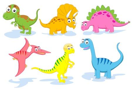 dinosaur cartoon: dinosaurio  Foto de archivo