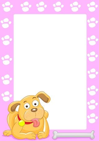 the dog and bone frame Stock Photo
