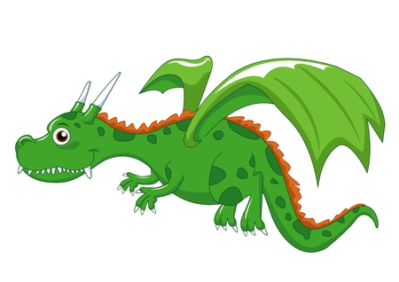 green dragon create by illustrator photo