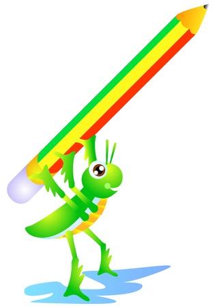 teaching children: a grasshopper