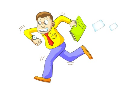 hurry man run by illustration Stock Illustration - 10261862