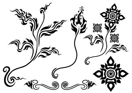 style: Thai style flower