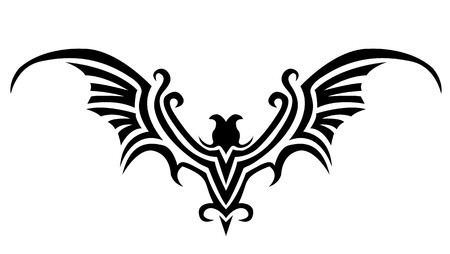 ancient bird: bat tattoo