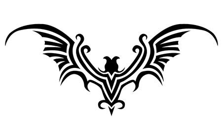 phoenix bird: bat tattoo
