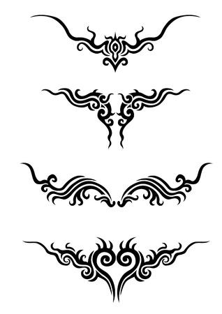asian angel: tattoo Stock Photo