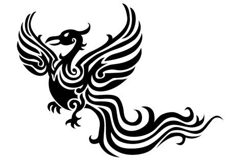 tatouage oiseau: tatouage de Phoenix