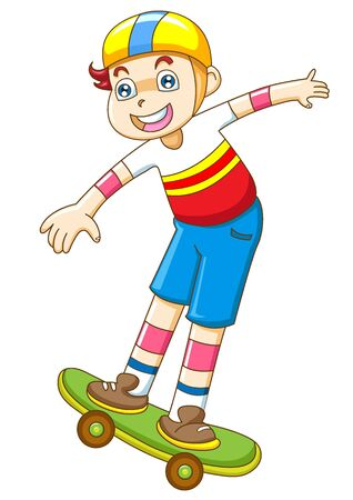 skateboarder: the yong boy in skateboarding Stock Photo