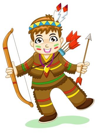 indian thanksgiving: indian boy