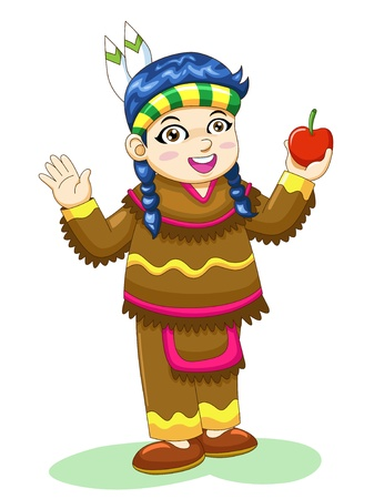 indian thanksgiving: indian girl Stock Photo