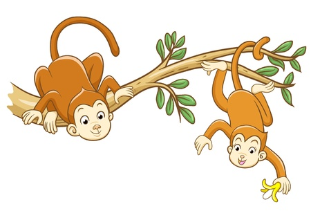 monkey File  no Gradients, no Effects, no mesh, no Transparencies  Vector