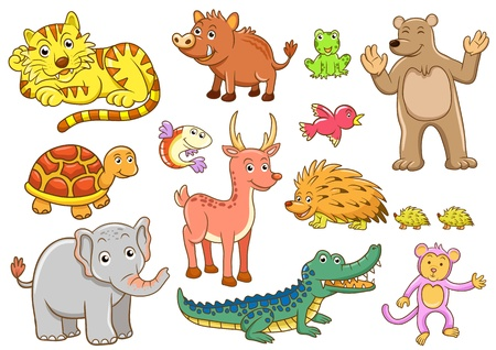 animals. EPS10 File - simple Gradients, no Effects, no mesh, no Transparencies.All in separate group for easy editing.