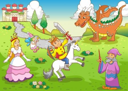 cartoon princess:  fairy  tale