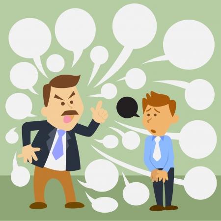 Illustration der Geschäftsmann Cartoon. angry Boss Standard-Bild - 20883018