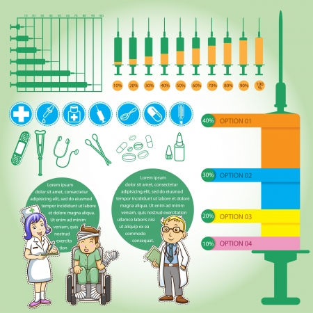 info graphics medical cartoon  イラスト・ベクター素材