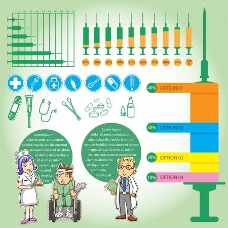 demografico: Datos de gr�ficos animados m�dica Vectores