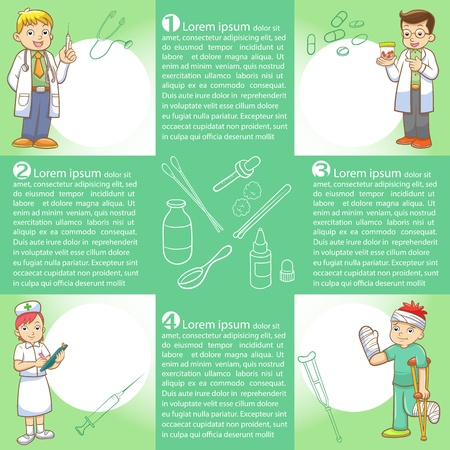 pharmacist: info graphics medical cartoon Illustration