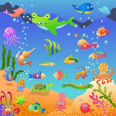 unde deep blue sea. EPS10 File - simple Gradients