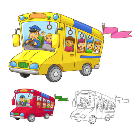 school bus  EPS10 File  All in separate group for easy editing