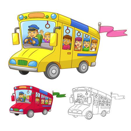 escuelas: autob�s escolar EPS10 Archivo En grupo separado para facilitar la edici�n