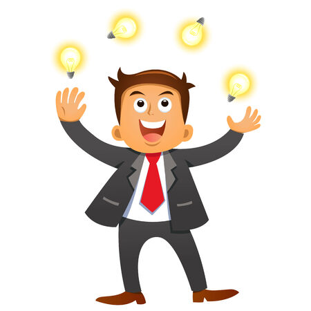 Businessman idea concepts. eps 10 simple Gradients, Transparencies Stock Vector - 24033923