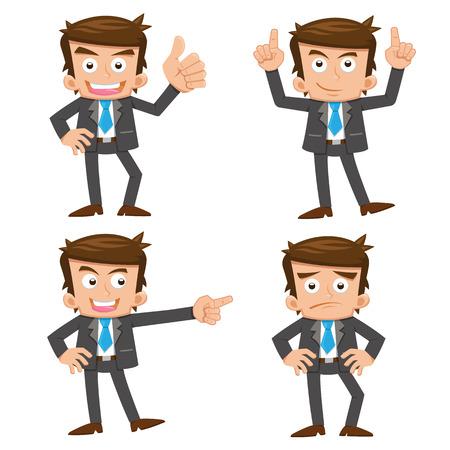 Businessman.eps 10 dégradés simples Banque d'images - 24033922