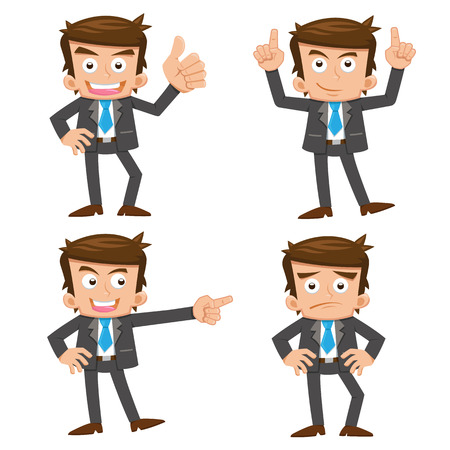 비즈니스맨: businessman.eps 10 간단한 그라데이션 일러스트