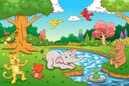 Dier in de jungle Stockfoto - 27460643
