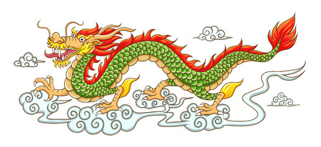 Chinese dragon.  Vector