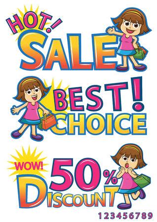 ショッピング少女販売割引。