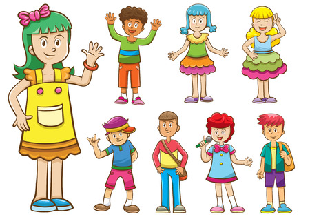 漫画の子供のセットです。 写真素材 - 30546475