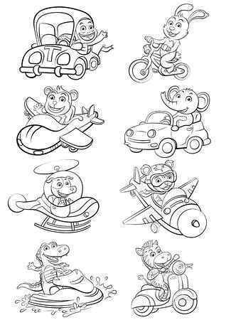 変な車や動物を設定します。