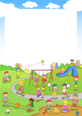 children playground: playground.EPS10 File  simple Gradients