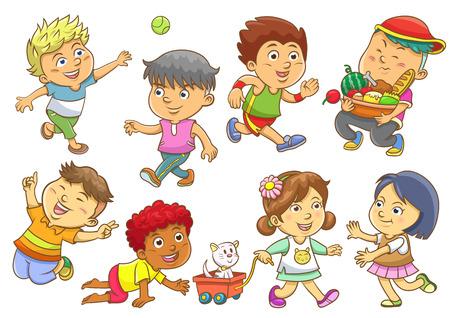 kid vector: conjunto de actividades infantiles routines.EPS10 archivo Degradados simples, sin efectos, sin malla, no Transparencies.All en grupo separado para facilitar la edición.