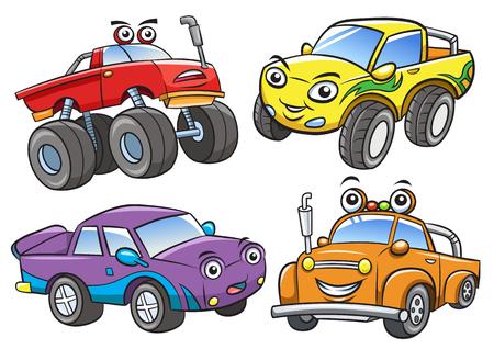 漫画のオフロード車。EPS10 ファイルの簡単なグラデーション