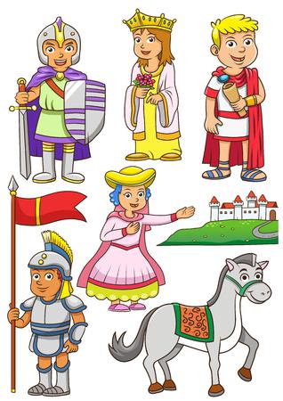 ギリシャ ローマ漫画のイラスト。EPS10 ファイルの簡単なテクニック