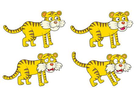 漫画虎文字設定 EPS10 ファイルの単純な手法のベクトル イラスト  イラスト・ベクター素材