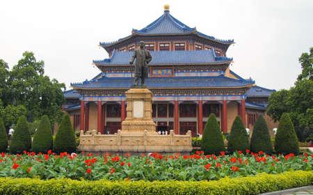 yat sen: GUANGZHOU, CHINA - MAY 25 : Sun Yat-sen Memorial Hall  on May 25, 2012