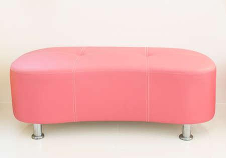 leather sofa: Pink leather sofa Stock Photo