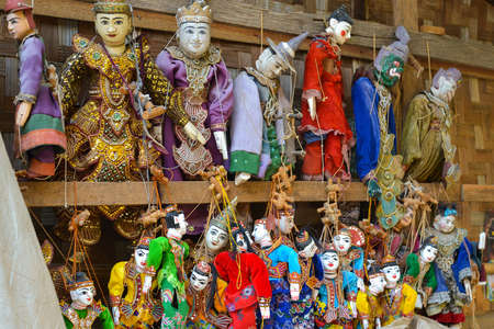 tradition: Puppet souvenir, Myanmar tradition dolls. Stock Photo